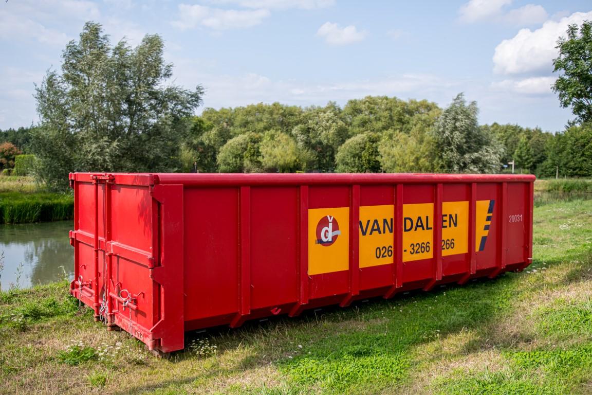 Afval container 20 m³ - Van Dalen