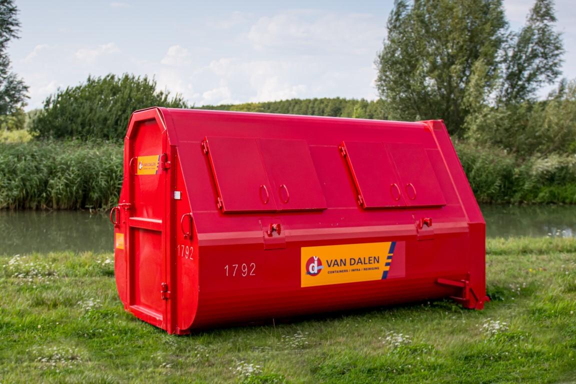 Afval container 10 m³ gesloten - Van Dalen