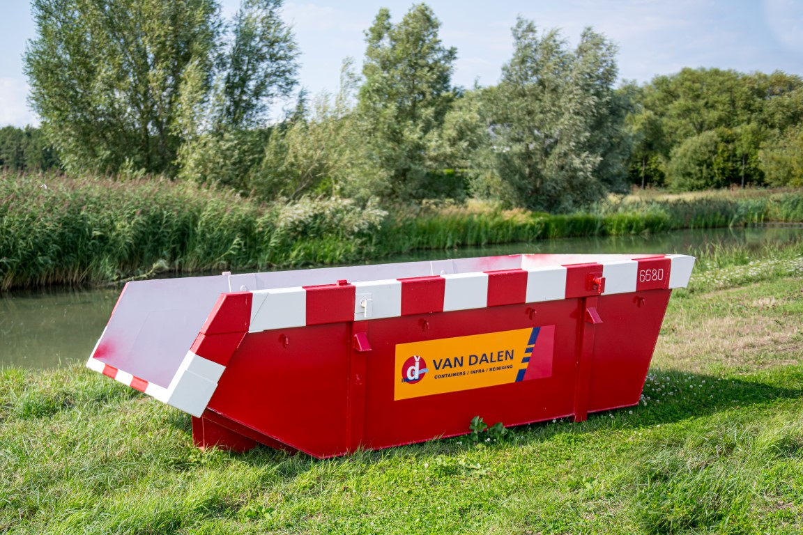 Afval container 6 m³ - Van Dalen